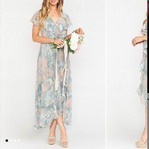 Show Me Your Mumu Jess Ruffle Dress Sage Floral
